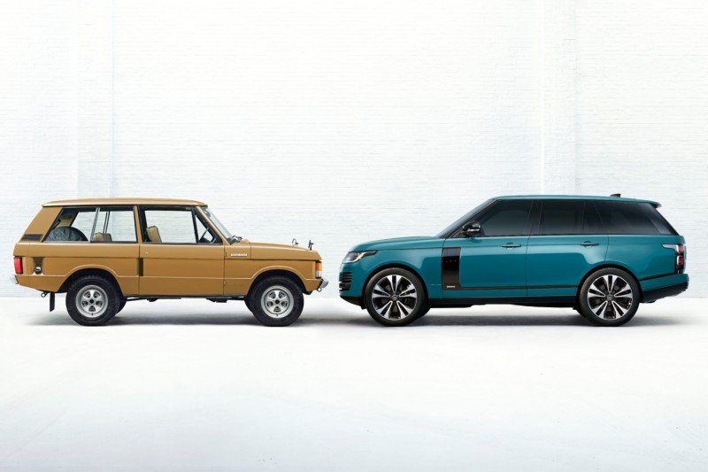 Original Range Rover and the new Range Rover Fifty